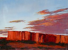 Red Sunset by Jan Fordyce (Oil Painting)