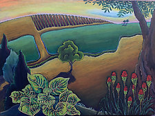 Vineyard Spring by Jane Aukshunas (Pastel Painting)