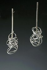 Nest Linear Earrings by Rina S. Young (Silver Earrings)