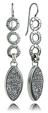 Mini Oscar Leaf Earrings by Jodi Brownstein (Silver & Stone Earrings)