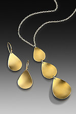 Goddess Triple Drop Set by Thea Izzi (Silver & Gold Jewelry)
