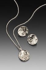 Reticulated Circle Set by Thea Izzi (Silver Jewelry)