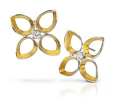 Quatrefoil Earrings by Thea Izzi (Gold, Silver & Stone Earrings)
