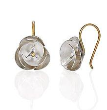 Petite Poppy Drops by Jayne Redman (Gold and Silver Earrings)