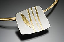 Bamboo Pendant by Tom McGurrin (Silver & Gold Necklace)