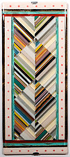 Right Angles in Neutral by Mary Johannessen (Art Glass Wall Art)