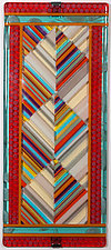 Right Angles in Contrasting Colors by Mary Johannessen (Art Glass Wall Art)