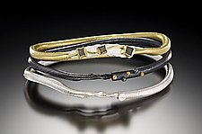 1/3/5 Bracelet Set by Christine MacKellar (Silver, Gold and Stone Bracelets)