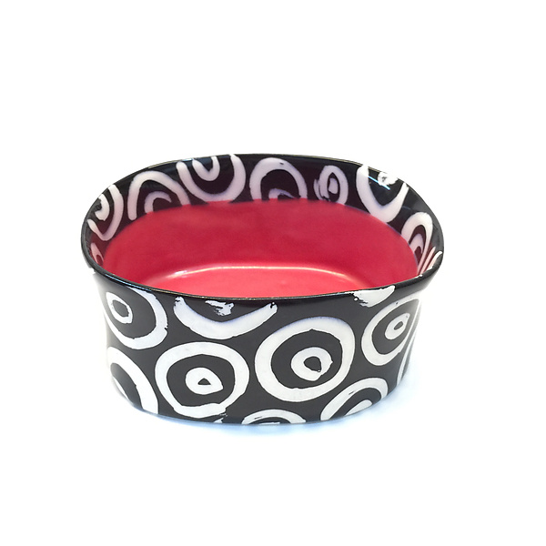 Red Oval Bowl