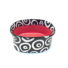 Red Oval Bowl by Matthew A. Yanchuk (Ceramic Bowl)