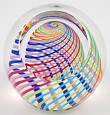 Harlequin Paperweight by Paul D. Harrie (Art Glass Paperweight)