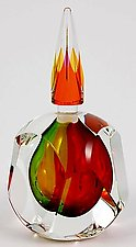 Autumn Perfume Bottle by Paul D. Harrie (Art Glass Perfume Bottle)