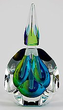 Pacific Perfume Bottle by Paul D. Harrie (Art Glass Perfume Bottle)