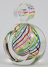 Candy  Perfume Bottle by Paul D. Harrie (Art Glass Perfume Bottle)