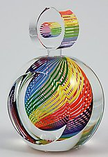 Rainbow  Perfume Bottle by Paul D. Harrie (Art Glass Perfume Bottle)