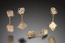 Wellington Earrings by Lisa Jane Grant (Silver & Gold Earrings)