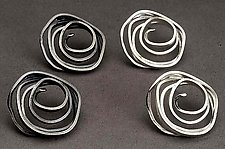 Swirl Earrings by Lori Gottlieb (Silver Earrings)
