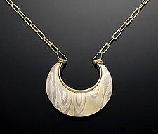 Jaipur Reversible Pendant - Aspen by Lisa Jane Grant (Gold & Silver Pendant)