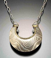 Jaipur Reversible Pendant - Arctic by Lisa Jane Grant (Gold & Silver Pendant)