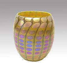 Opal Yellow Nutty Bowl by Thomas Philabaum (Art Glass Bowl)