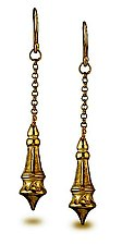 Spires Medium Drop Earrings by Alyssa Reiner (Gold Earrings)