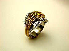 Memento Mori - The Book Ring by Kim Eric Lilot (Gold & Palladium Ring)