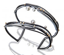 Twig Cuff with Pearls by Sydney Lynch (Gold, Silver & Pearl Bracelet)