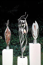 Sculpture Trio by Molly Mason (Metal Sculptures)