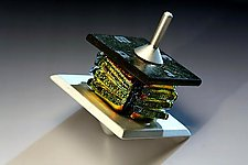 Gold Dreidel by Alicia Kelemen (Metal & Glass Dreidel)