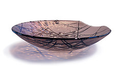 Iridescent Stringer Series - Mauve by Gregg Mesmer and Diane Bonciolini (Art Glass Bowl)