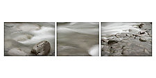 Triptych of Flowing River 1 by Steven Keller (Color Photograph)