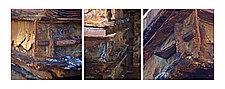 Triptych of Sumberged Pallets 1 by Steven Keller (Color Photograph)
