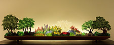 Perennial Hush by Bernie Huebner and Lucie Boucher (Art Glass Sculpture)