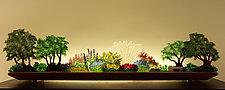 Perennial Hush by Bernie Huebner and Lucie Boucher (Art Glass Sculpture)