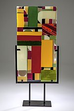 Color Geometry by Varda Avnisan (Art Glass Sculpture)