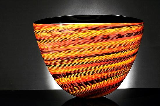 Color Weave Oval Bowl