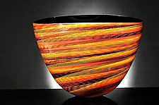 Color Weave Oval Bowl by Brian Becher (Glass Bowls)