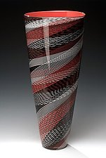 Color Weave Cone by Brian Becher (Art Glass Vase)