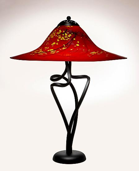 Oriental Red Round Edge Spiral Lamp