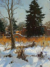 Winter Wamth in SantaFe by Robert Kuester (Oil Painting)