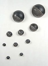 Northwest Wall Ball Set by Larry Halvorsen (Ceramic Wall Sculpture)
