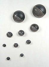 Northwest Wall Ball Set by Larry Halvorsen (Ceramic Wall Sculpture)