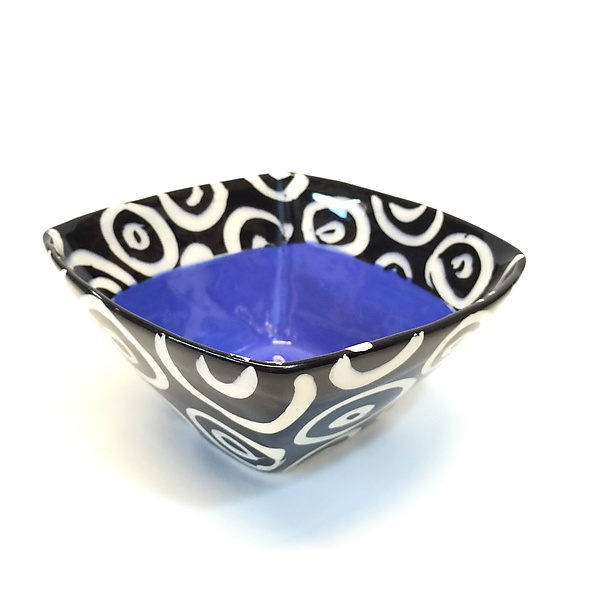 Small Square Bowl in Blue