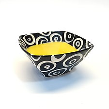 Small Square Bowl in Yellow by Matthew A. Yanchuk (Ceramic Bowl)