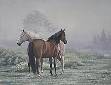 Misty Morning by Werner Rentsch (Acrylic Painting)