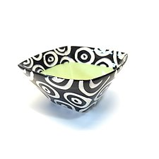 Small Square Bowl in Green by Matthew A. Yanchuk (Ceramic Bowl)