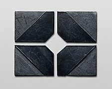 Small Series Diamond by Nell Devitt (Ceramic Wall Sculpture)