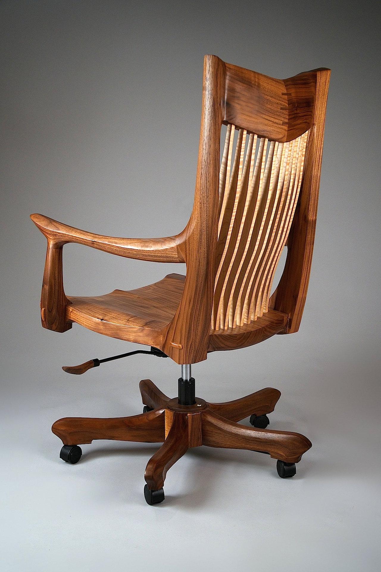 Franklin Swivel Desk Chair By Richard Laufer Wood Chair Artful Home