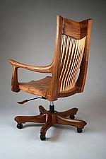 Franklin Swivel Desk Chair by Richard Laufer (Wood Chair)