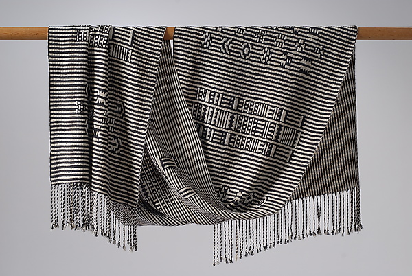 Atitlan Shawl in Black and White